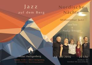 Jazz auf dem Berg 2 - Webposter