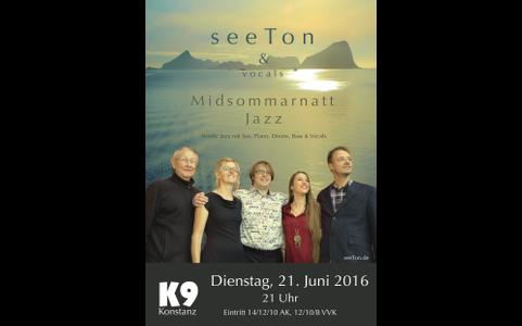 21. Juni 2016: Midsommarnatt Jazz im K9 – mit Nadja Brezger (vocals)