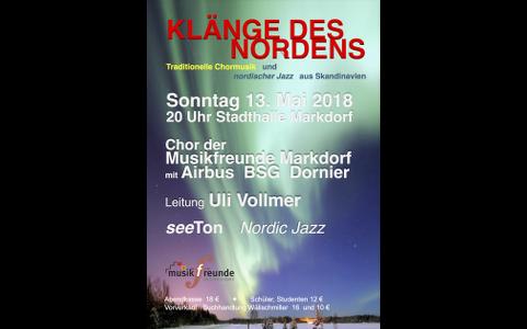 13. Mai 2018: Klänge des Nordens – seeTon und Musikfreunde Markdorf e.V.