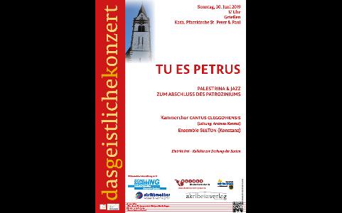 """30. Juni 2019: """"Tu es Petrus – Palestrina & Jazz"""" (Grießen)"""